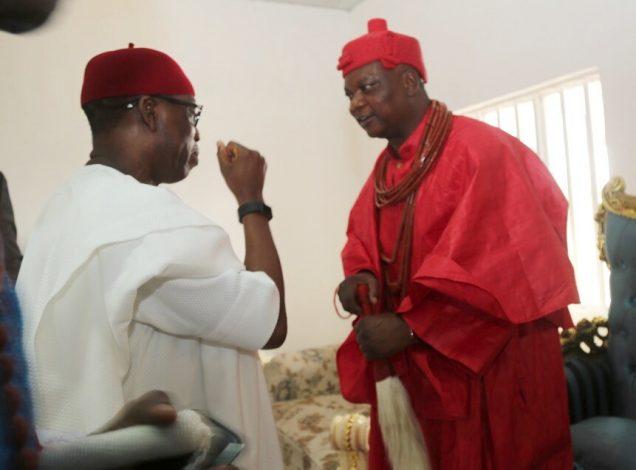 Okowa and Ovie of Agbon Kingdom at 2017 Agbon Day Celebration