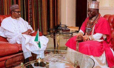 President Buhari and Olu of Warri, Ogiame Ikenwoli