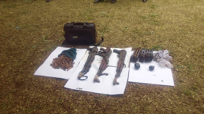 Recovered Ak 47 Rifles, Ammunition And Dynamite by Delta State Police