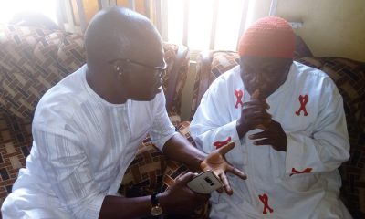 Comrade Ovuozourie Macaulay Commiserates with the Ovie of Okpe-Isoko, HRH Felix Agbabe
