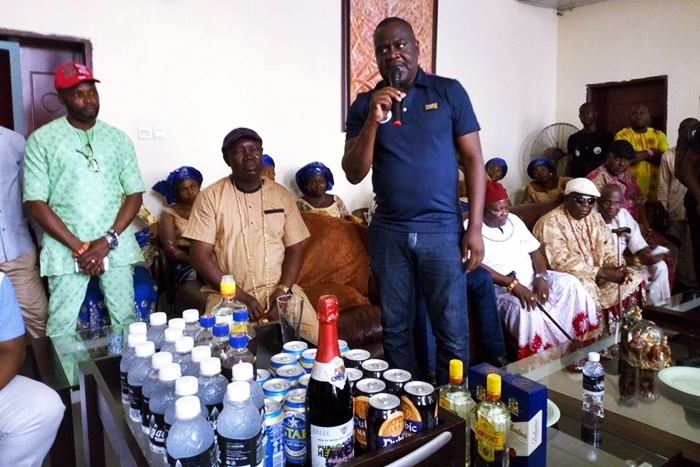Hon Daniel Mayuku at a Consultative Visit to Traditional Rulers and Leaders in Warri Federal Constituency