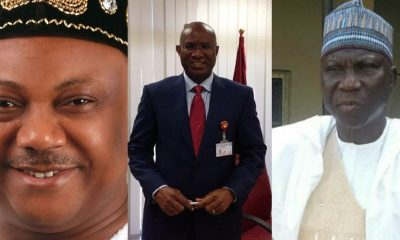 (L-R) Great Ogboru, Ovie Omo-Agege and Sani Dododo