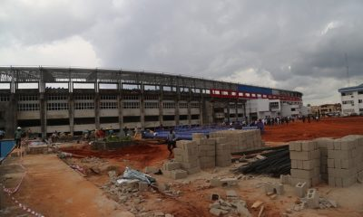 On-going work at Stephen Keshi Stadium, Asaba