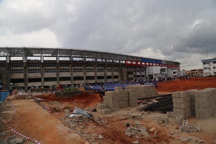 On-going work at Stephen Keshi Stadium, Asaba