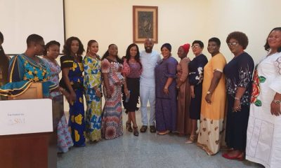Wives of Delta LGA Chairmen with Aniocha North Boss, Chuks Oseme after a Prayer Session