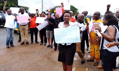 Delta State Journalists on Protest