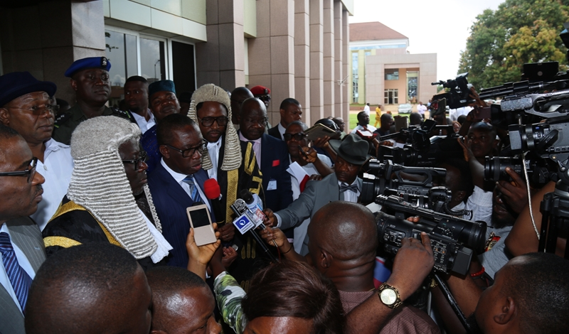Governor Okowa,Delta Lawmakers and Journalists