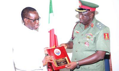 Governor Okowa and Brigadier General Felix Edafioghor