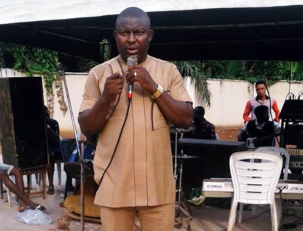 Hon Festus Okoh Speaking during a Praise  Prayers section at his Residence